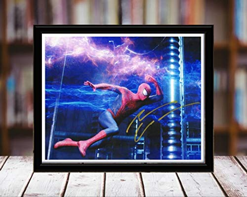 Andrew Garfield Autograph Replica Print - Spiderman 2-5x7 Desktop Framed Print - Landscape