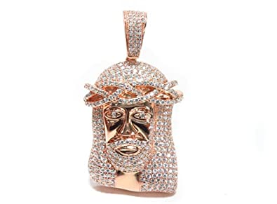 Amazon sterling silver jesus pendant rose 925 silver 51 mm sterling silver jesus pendant rose 925 silver 51 mm 28 mm aloadofball Image collections