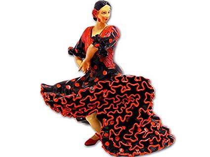 Vestido Rojos Figura Con Lunares De La Colección Flamenca Negro bfY76gy