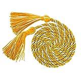 "GraduationMall Graduation Honor Cord 68"" GoldWhite"