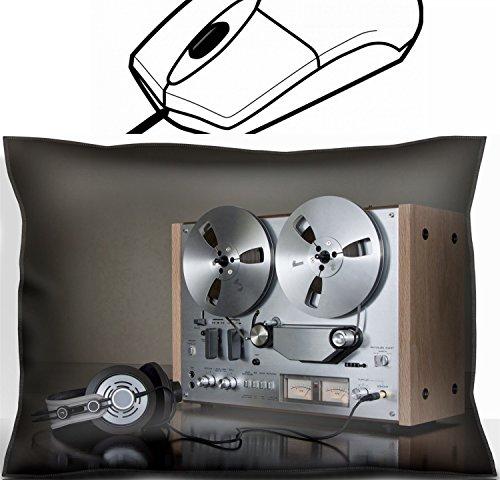 MSD Mouse Wrist Rest Office Decor Wrist Supporter Pillow design: 8888683 Vintage Reel to Reel stereo tape deck recorder