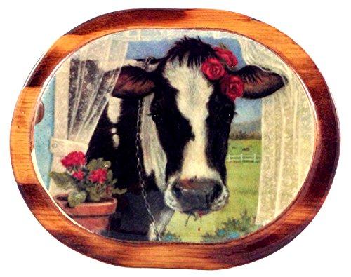 The Cow Nextdoor  Prints On Wood Art