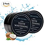 Natural Teeth Whitening Powder 2 Packs - Coconut Activated Charcoal - Effective Teeth Whitener + 2 Packs (2 PACK)