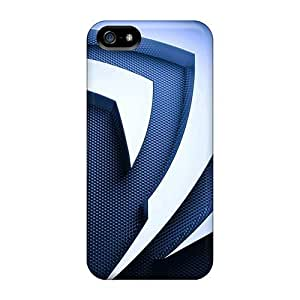 For REUNrXe5051todjS 3d Metal Nvidia Logo Protective Skin/Case For Iphone 5/5S Cover Case Cover