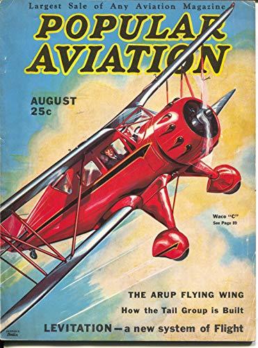"Popular Aviation 8/1933-H.-R. Bollin Waco""C"" biplane for sale  Delivered anywhere in USA"