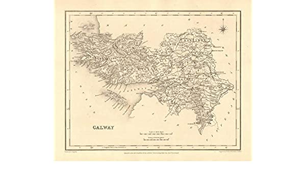 Galway On Map Of Ireland.Amazon Com County Galway Antique Map For Lewis By Creighton Dower