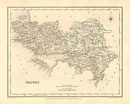 Map Of Ireland Galway County.Amazon Com County Galway Antique Map For Lewis By Creighton Dower