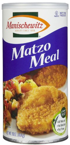 Manischewitz Matzo Meal Daily Canister, (Not Certified Kosher for Passover), 16 (Matzo Meal)
