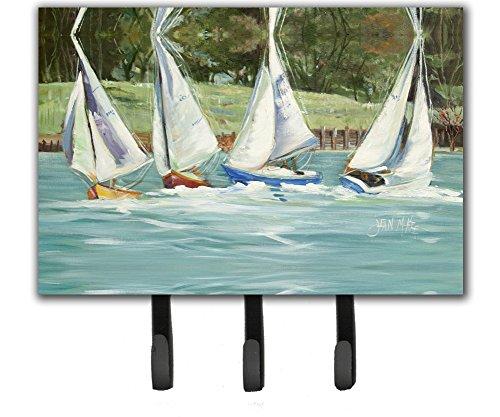 - Caroline's Treasures JMK1035TH68 Sailboats on The Bay Leash or Key Holder, Large, Multicolor