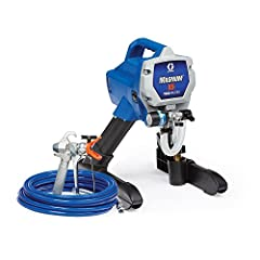 ' Airless Paint Sprayer, Stand Style, 1/2 HP, Flow Rate 0.27 gpm, Voltage 120 VAC, Amps AC 15.0, Operating Pressure 3000 psi, Guns Supported 1, Tip Size Included 0.015 In., Max. Tip Size 0.015 In., Hose Length 25 ft., Max. Hose Length 75 ft.,...