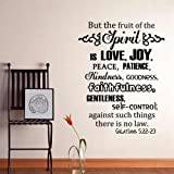 The Fruits of the Spirit - GALATIANS 5:22-23 Scripture Vinyl Wall Decal Inspirational Words(Black,s)
