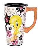 Looney Tunes 12609 Tweety Ceramic Travel Mug, Toy, Multi Colored