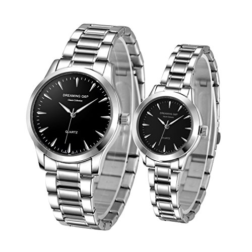 816f437817f22f Valentines His and Hers Pair Watches - fq240 Men s Women s Silvery ...