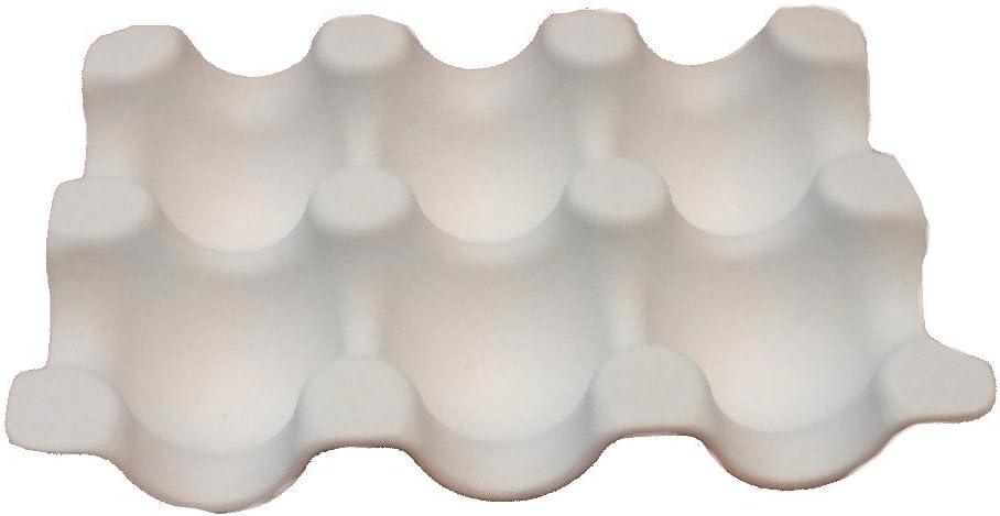 "6.25"" Melamine Egg Tray Rack Display Carton holder storage 1/2 dozen Holds 6 Eggs"