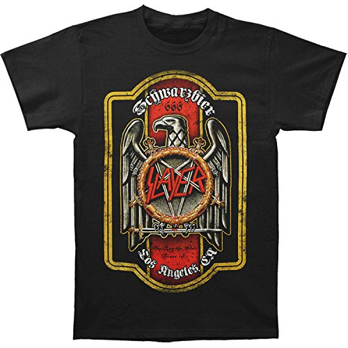 Select Beer T-shirt - Slayer Eagle Schwarzbier Beer Crest Metal Rock Band Adult T-Shirt Tee Select Shirt Size: XX-Large