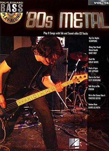 '80s Metal: Bass Play-Along Volume 16