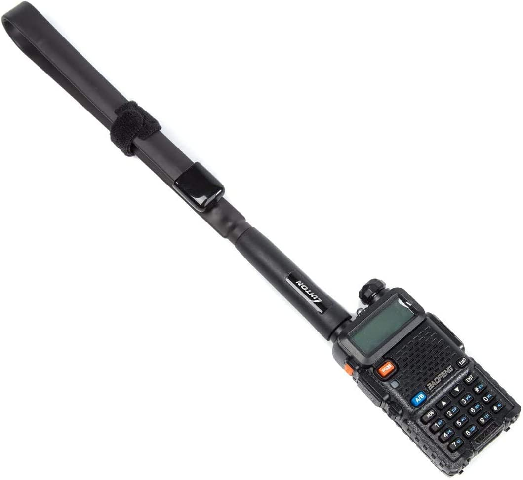SMA Walkie Talkie Antena Mujer de banda dual WiFi Antena de interior compatible con radio de dos v/ías para BF888S 777S 666S Negro 10 unidades
