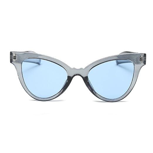 cbe82d3910e Armear Oversized Cat Eye Sunglasses Women Clout Goggle Mod Tinted Sunglasses  Clear Frame (Blue