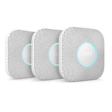 Nest Protect Smoke & Carbon Monoxide Alarm, Battery (2nd Generation), 3 Pack