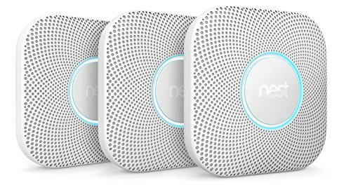 Nest Protect Smoke Carbon Monoxide Alarm, Battery , 3 Pack