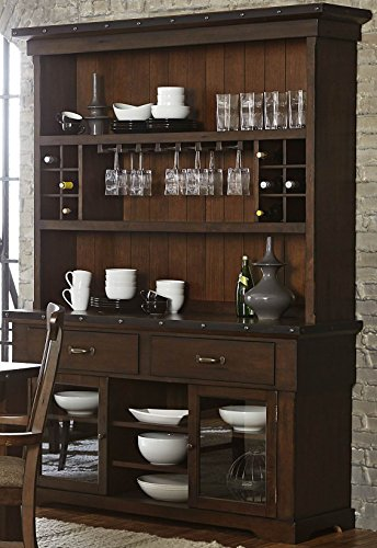 Schleiger Buffet & Hutch in Burnished Brown