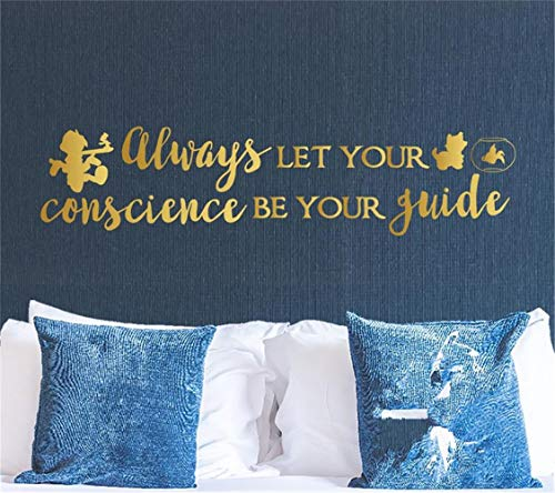 Guides Buddha (chkudn Wall Decal Sticker Art Mural Home Decor Quote Always let Your Conscience be Your Guide for Bedroom Living Room)
