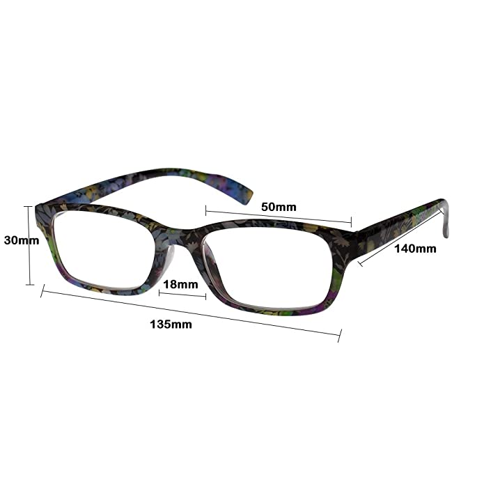 Amazon.com: anteojos de Lectura, lentes con diseño de flores ...