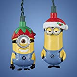 Set of 10 Despicable Me Stuart and Kevin Novelty Christmas Lights- Green Wire