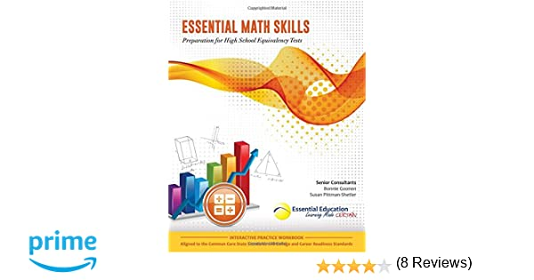 Essential Math Skills, Preparation for High School Equivalency ...