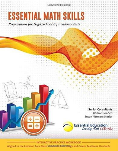 - Essential Math Skills, Preparation for High School Equivalency Tests