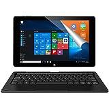 ALLDOCUBE iwork10 Pro Tablet PC con Teclado, 10.1 Pulgadas 1920x1200 IPS Pantalla, Windows 10 + Android 5.1, Intel Atom X5 Z8350 Quad Core, 4GB RAM 64GB ROM, Negro
