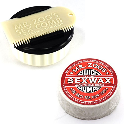 Sex Wax, Container & Wax Comb, with Wax, White (5X Hard (Warm to Mid-Tropical)) by Mr Zogs