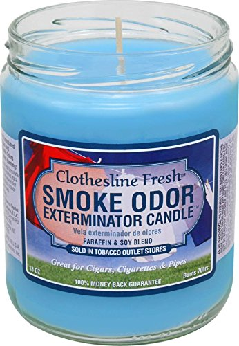 Tobacco Outlet Products Smoke Odor Exterminator 13oz Jar Candle, Clothesline Fresh