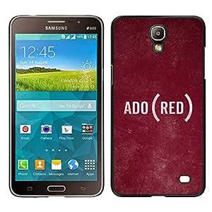 Samsung Galaxy Mega 2 / SM-G750F / G7508 Único Patrón Plástico Duro Fundas Cover Cubre Hard Case Cover - Text Language Ado Rustic Texture