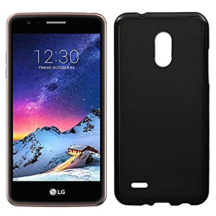Movixoz - Funda de TPU Mate Lisa LG K4 2017/K8 2017 Silicona Flexible Negro