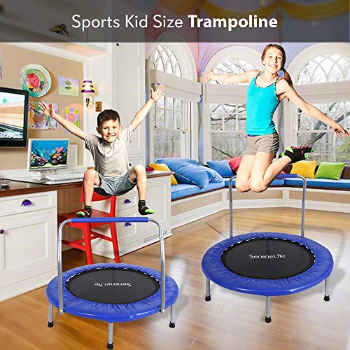 SereneLife Trampoline Mini Rebounder, Exercise - - SLSPT365