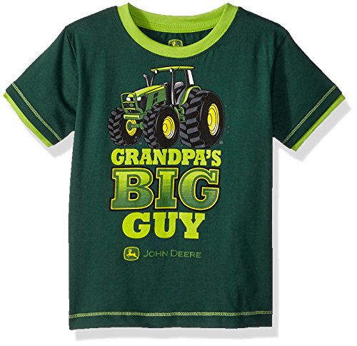 John Deere Toddler Boys' T-Shirt, Dark Green/Lime Green, 3T