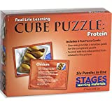 Stages Learning Real Picture Protein Wooden Cube
