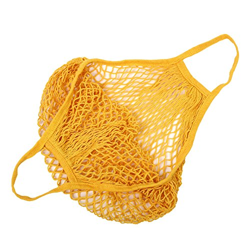 Shopping Net Cotton Grocery Orange String Kintted Bags Portable Kicode Storage Environmental qC57H7