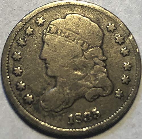(1835 P Capped Bust US Half Dime Fine)