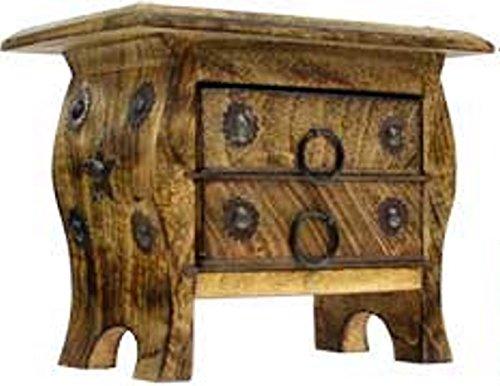 Hand Carved Wooden Pentagram Chest
