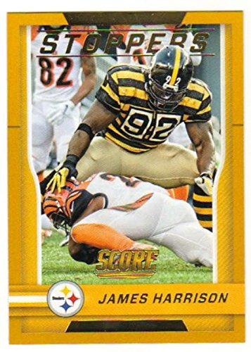 2016 Score Stoppers Gold #9 James Harrison Steelers Football Card NM-MT