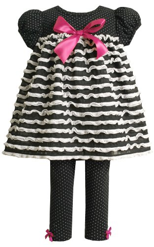 Bonnie Baby Pindot Legging Set With Ruffles