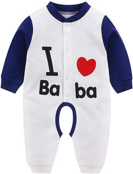 Bebé Recién nacido Body Pijama de manga larga Femenino Bebé Algodón Saco de dormir Primavera 0-1-Amor dad_59cm sacos de dormir para niños bebé: Amazon.es: Bebé