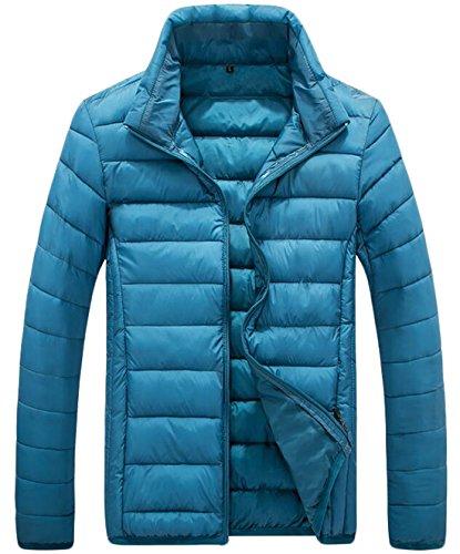 Cotton Zipper EKU Jacket XXL Collar Stand Coat Blue US Down Men's xPwqwafnIt