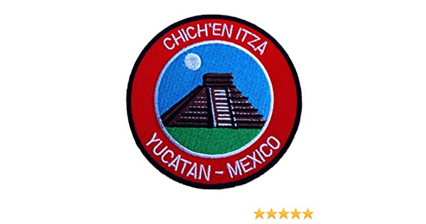 Yucatán chichén itzá parche de México 9 cm bordado con escudo del Gillingham F.C templos de decoración con apliques de viaje DIY Souvenir mochila para T-Shirt chaqueta para equipaje: Amazon.es: Hogar