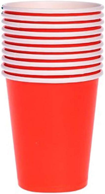YaptheS 40 mini vasos desechables de plástico para chupito, Jello Shots, Jager Bomb, Beer Pong, tamaño perfecto para servir condimentos, aperitivos, muestras y sabores – 2 oz Red Household Products: Amazon.es: Oficina