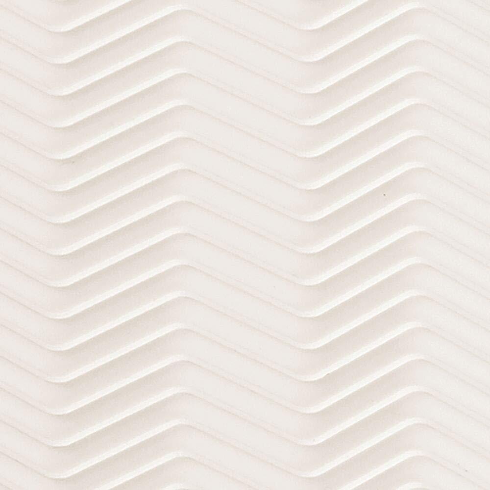 Gris mDesign Alfombrilla escurreplatos de silicona tama/ño peque/ño Tapete de silicona para fregadero Lavable en lavavajillas Dibujo en zigzag Escurridor de vajilla y utensilios de cocina