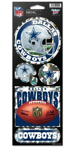 WinCraft NFL Dallas Cowboys Prismatic Stickers, Team Color, One Size for $<!--$3.48-->
