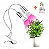 Plant Grow Light Growing Lamp Efficient Indoor Dual Head with Flexible Adjustable Gooseneck and Red/Blue LED for Plants/Seedling/Green House/Office/Gardening/Hydroponics (10W, Double Switch) Review